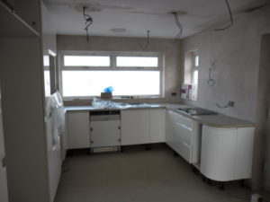 Building and Joinery example showing  Kitchen Fitting.