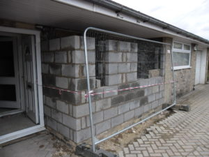 Building and Joinery example showing a House Extension in progress.